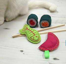catnip sushi toys, christmas gifts for cats