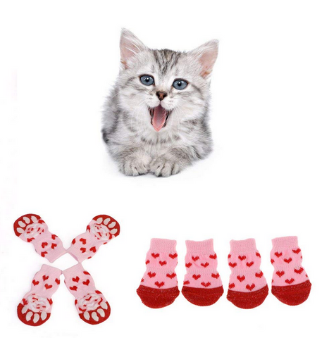 cat socks, tiny socks for cats to keep warm, christmas gifts for cats