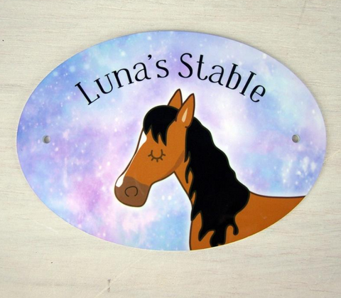 horse stable sign, Christmas gifts for horses, stable,