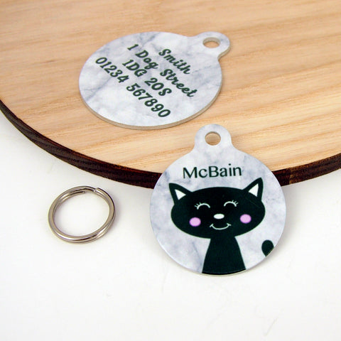 black cats, black cat tag, pet tag, cat tag, cat collar, cat Identification tag, Cat TAG, Cat ID, Black cat appreciation