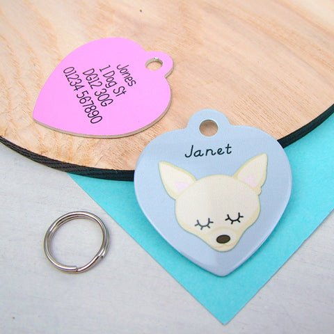 Chihuahua Dog Accessories and Id Tags for Dogs and Hoobynoo Pet Tag Breed Information