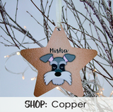 copper christmas decorations