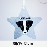 Silver Printed Christmas Decorations