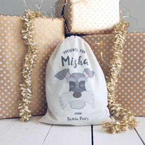 Personalised Dog Christmas Sack - SMALL  - Hoobynoo - Personalised Pet Tags and Gifts