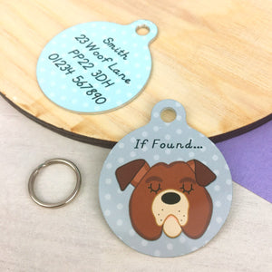 Bulldog Personalised Pet Id Tag