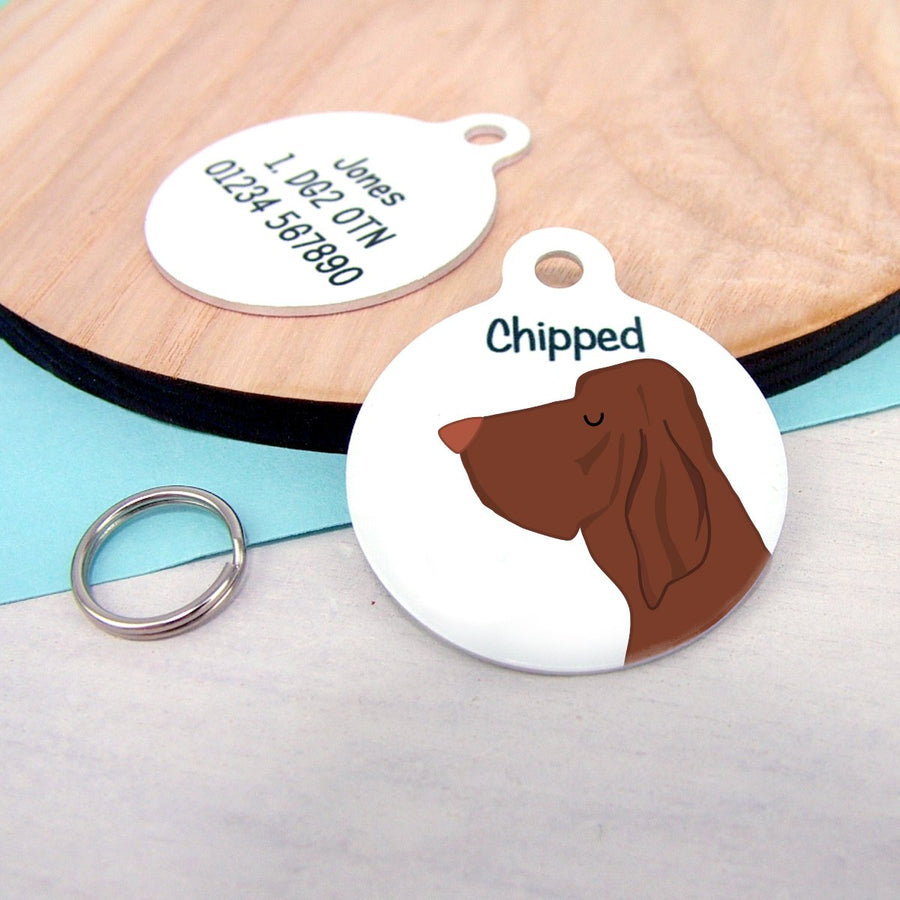 Bracco Italiano Personalised name ID Tag - White  - Hoobynoo - Personalised Pet Tags and Gifts
