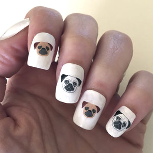 Pug Nail Transfers  - Hoobynoo - Personalised Pet Tags and Gifts