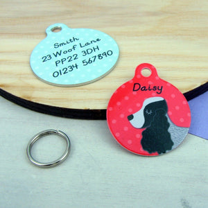 Cocker Spaniel Personalised Pet Id Tag  - Hoobynoo - Personalised Pet Tags and Gifts