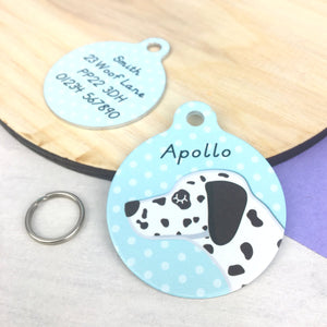 Dalmation Personalised Pet Id Tag