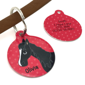Personalised Equestrian ID Horse Bridle Tag  - Hoobynoo - Personalised Pet Tags and Gifts