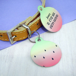Watermelon Pet ID Tag  (452964)  - Hoobynoo - Personalised Pet Tags and Gifts