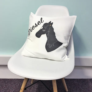 Personalised Horse Cushion Cover  - Hoobynoo - Personalised Pet Tags and Gifts
