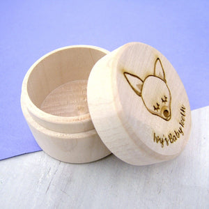 Personalised Dog Tooth Keepsake Box  - Hoobynoo - Personalised Pet Tags and Gifts