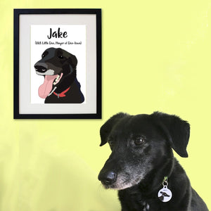 Custom Contemporary Pet Portrait  - Hoobynoo - Personalised Pet Tags and Gifts