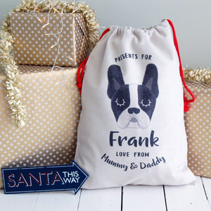 Personalised Dog Christmas Sack - LARGE  - Hoobynoo - Personalised Pet Tags and Gifts