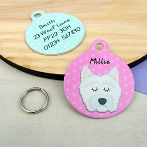 Personalised West Highland Terrier Dog Id Tag  - Hoobynoo - Personalised Pet Tags and Gifts