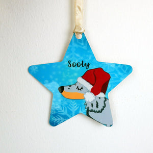 Dachshund Frozen Christmas Decoration  - Hoobynoo - Personalised Pet Tags and Gifts
