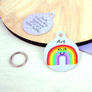 Rainbow Pet ID Tag  - Hoobynoo - Personalised Pet Tags and Gifts