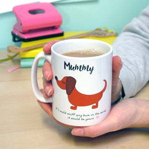 Daddy/Mummy Funny Dog Mug  - Hoobynoo - Personalised Pet Tags and Gifts