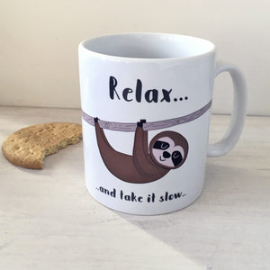Sloth Mug  - Hoobynoo - Personalised Pet Tags and Gifts