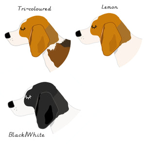 Beagle Personalised name ID Tag - White  - Hoobynoo - Personalised Pet Tags and Gifts