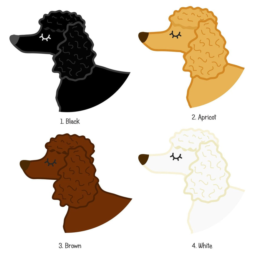 Poodle Personalised Pet Name Id Tag