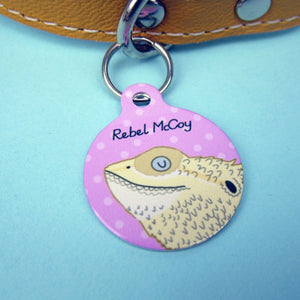 Bearded Dragon Harness ID Tag