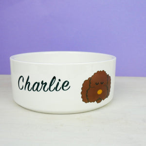 Personalised Cockapoo/Labradoodle/Bichon Frise Dog Bowl  - Hoobynoo - Personalised Pet Tags and Gifts