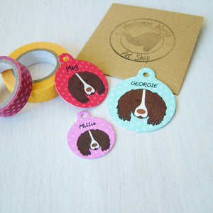 Personalised Springer Spaniel Dog ID Tag  - Hoobynoo - Personalised Pet Tags and Gifts