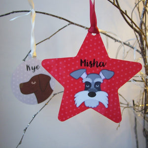 Personalised Dog Christmas Decoration  - Hoobynoo - Personalised Pet Tags and Gifts