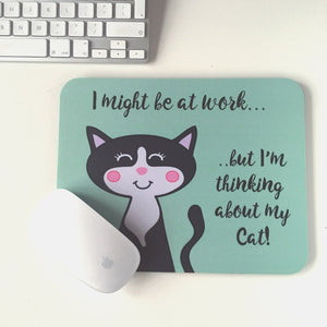Cat Mouse Pad  - Hoobynoo - Personalised Pet Tags and Gifts