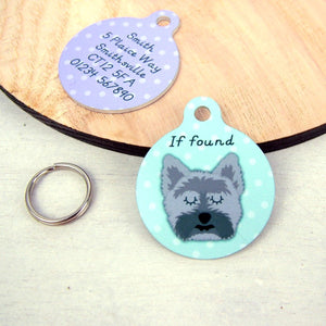 Cairn Terrier Dog ID Name Tag  - Hoobynoo - Personalised Pet Tags and Gifts