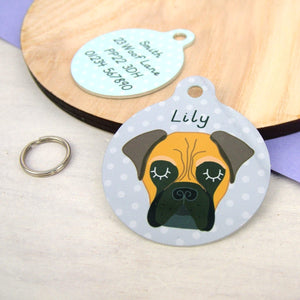 BullMastiff Personalised Dog Name ID Tag
