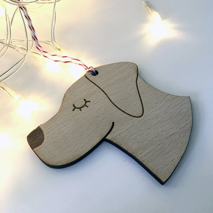 Labrador Wooden Christmas Decoration  - Hoobynoo - Personalised Pet Tags and Gifts