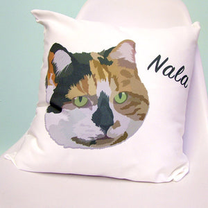 Custom Contemporary Pet Portrait Cushion  - Hoobynoo - Personalised Pet Tags and Gifts