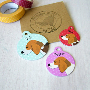 Beagle Personalised Dog Id Tag  - Hoobynoo - Personalised Pet Tags and Gifts
