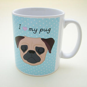 Personalised 'I Heart my Dog Mug  - Hoobynoo - Personalised Pet Tags and Gifts