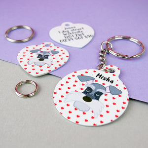 Personalised Valentines Dog ID Tag and Keyring Giftset  - Hoobynoo - Personalised Pet Tags and Gifts