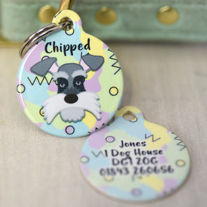 Dog Tag Personalised - Retro 80s Design
