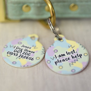 Personalised Pet ID Tag - 80s Design LIMITED EDITION