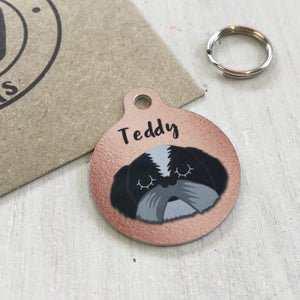 Personalised Dog Tag - Copper Print  - Hoobynoo - Personalised Pet Tags and Gifts