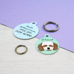 Personalised Cavachon Dog ID Tag  - Hoobynoo - Personalised Pet Tags and Gifts