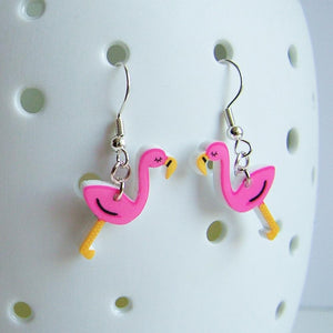 Flamingo Acrylic Kitsch Earrings  - Hoobynoo - Personalised Pet Tags and Gifts