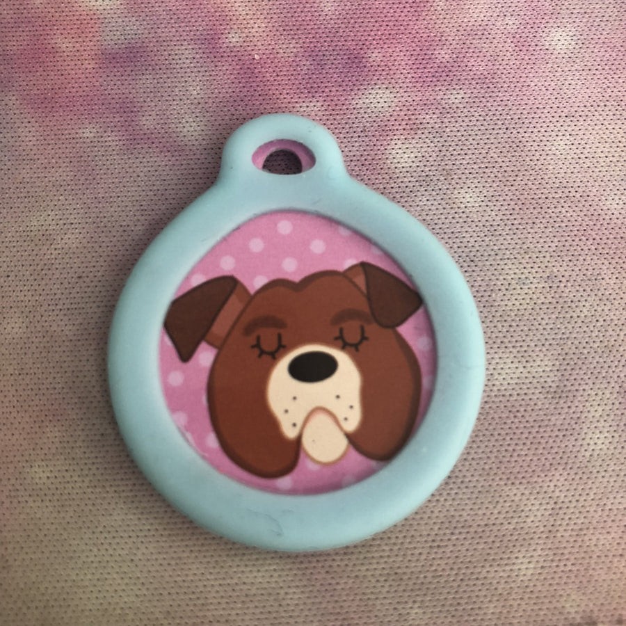 Add On - Glow in the Dark Tag Silencer - MEDIUM Size only.  - Hoobynoo - Personalised Pet Tags and Gifts