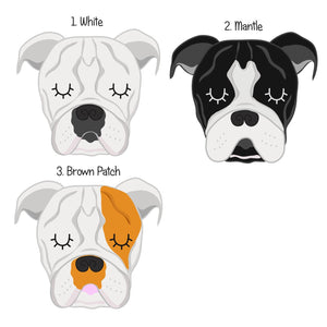 Olde Tyme Bulldog Personalised Dog ID Tag  - Hoobynoo - Personalised Pet Tags and Gifts