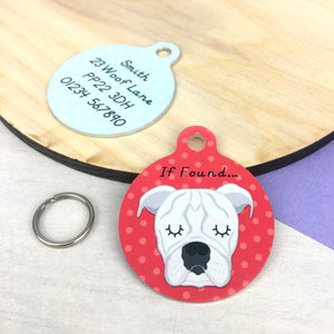 Old Thyme Bulldog Personalised Pet Id Tag