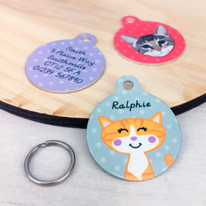 Personalised Cat Pet Identity Name Tag