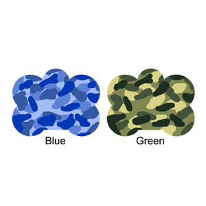 Camouflage dog name ID tag Bone Shaped
