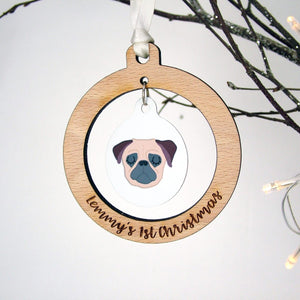 Puppy's 1st Christmas Decoration  - Hoobynoo - Personalised Pet Tags and Gifts