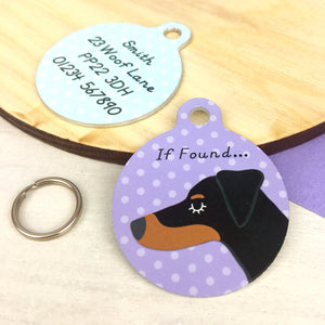 Doberman Personalised Pet Name ID Tag